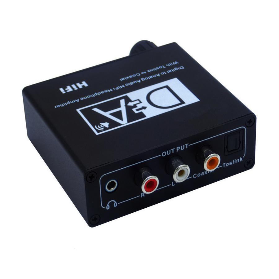 Digital to Analog HIFI Audio Converter Digital Fiber Coaxial Support US/ EU Plug