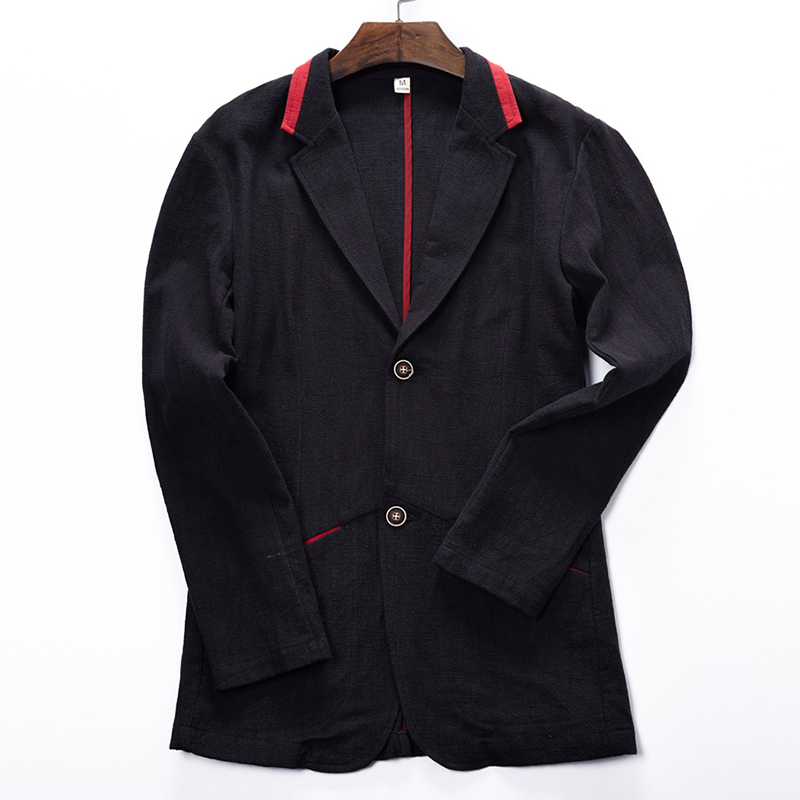 Mens Linen Fashionable Casual Blazer Jacket
