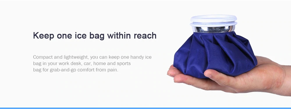 Reusable Ice Bag Cold Pack for Injuries Neck Knee Muscle Pain Relief First Aid Ice Bag Ice Bucket Cooling Tools
