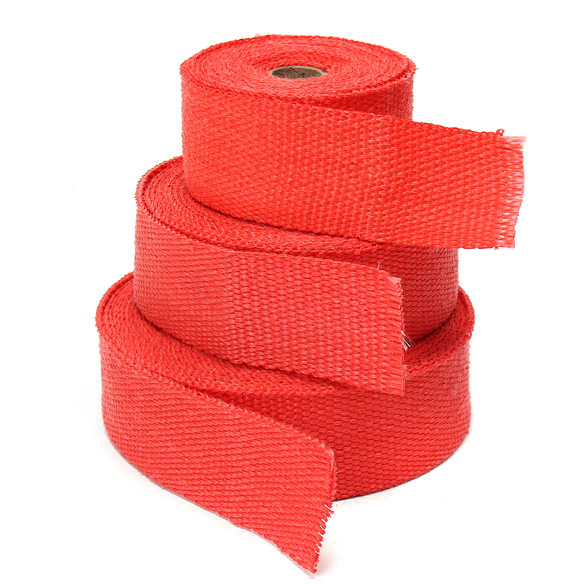 5M/10M/15M Exhaust Heat Wrap Exhaust Fiber Glass Heat Insulation Pipe Tape With 5Pcs Stainless Ties