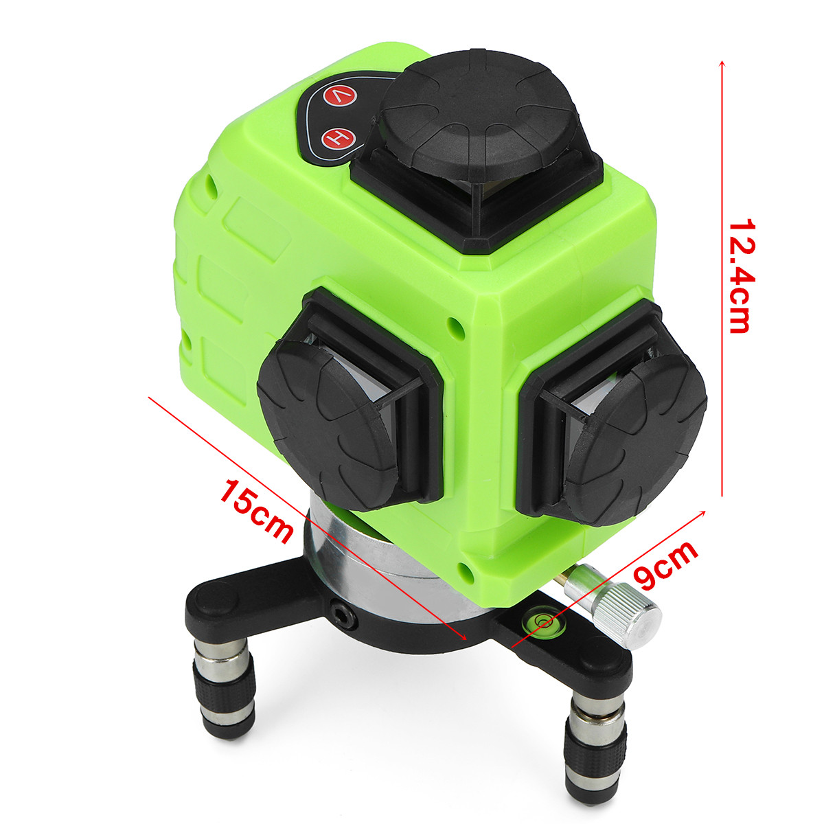 360° Rotary Laser Level Self Leveling 3D 12 Line Green Measuring Tool with Tripod