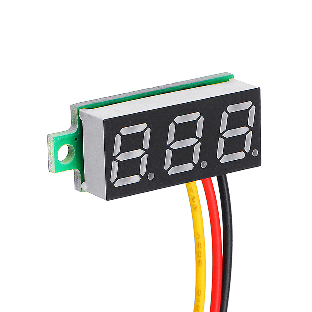 3Pcs Geekcreit® Yellow LED 0.28 Inch 2.6V-30V Mini Digital Volt Meter Voltage Tester Voltmeter