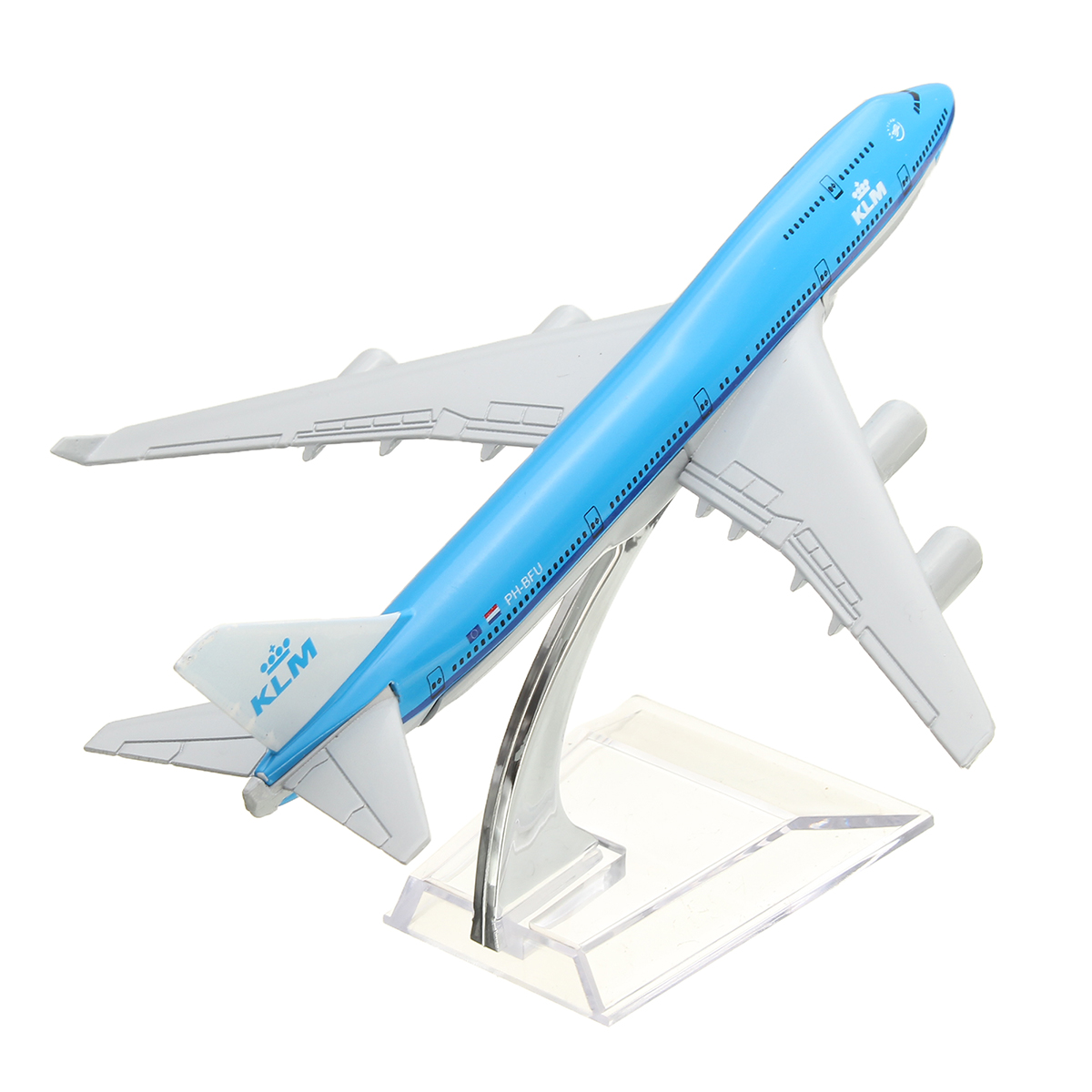 NEW 16cm Airplane Metal Plane Model Aircraft B747 KLM A