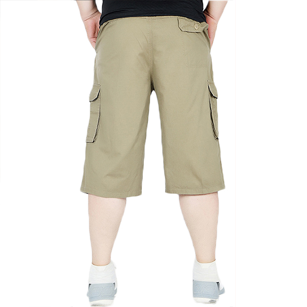 Summer Mens Casual Plus Size Cargo Pants Breathable Loose Casual Shorts