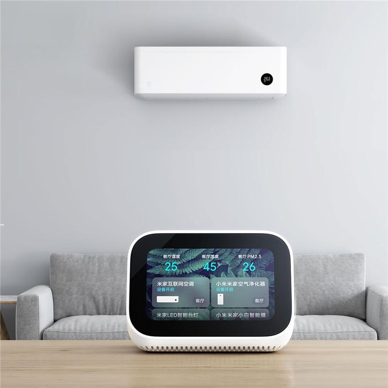 Xiaomi AI Touch Screen bluetooth 5.0 Speaker Digital Display Alarm Clock WiFi Smart Connection Speaker