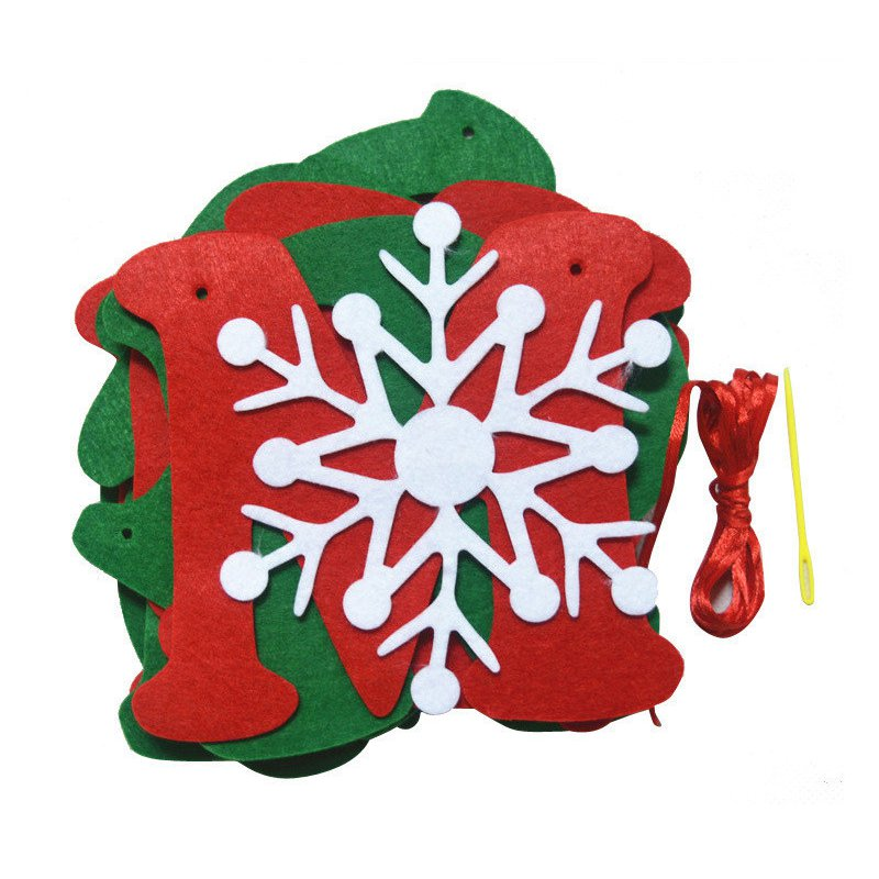 Christmas Tree Hanging Flag Banner Ornament Gift Home Yard Party Decor