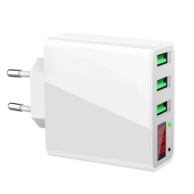 Bakeey 3.4A Current Voltage LED Display EU Wall Travel Charger for Smartphones Tablets