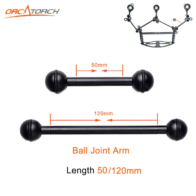 50mm 80mm 120mmOrcaTorch ZJ15 Ball Joint Arm Camera Tray Holder Bracket for Underwater Scuba Diving Dive Photography Flashlight