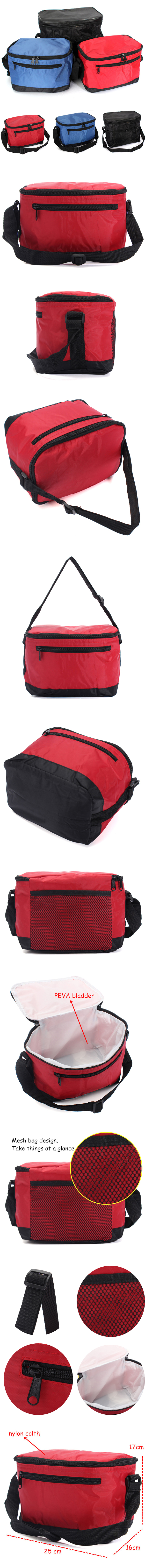 Thermal Cooler Waterproof Lunch Bag Portable Insulated Picnic Tote Multifunction Picnic Bag