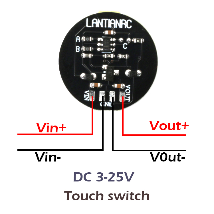 5 PCS LANTIAN DIY Touch Switch Control Module 3A 3-25V for RC Drone
