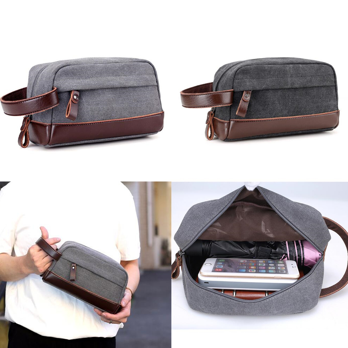 Specifications: Item Type: Handbags Pattern Type: Patchwork Main Material: Canvas Style: Casual Closure Type: Zipper Shape:Clutch Model Number: Men Clutch Bag Hardness: Soft Interior:Cell Phone Pocket,Interior Zipper Pocket,Interior Slot Pocket Handbags T #handbag