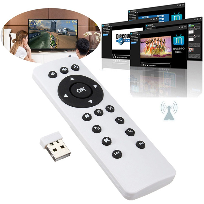 2.4G USB 2.0 Air Mouse Remote Control Wireless Keyboard