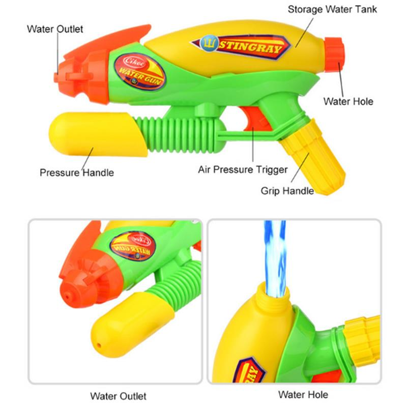 Hot 10m Big 280ml High Pressure Large Capacity Water Gun Pistols Toy Children Outdoor Weapon