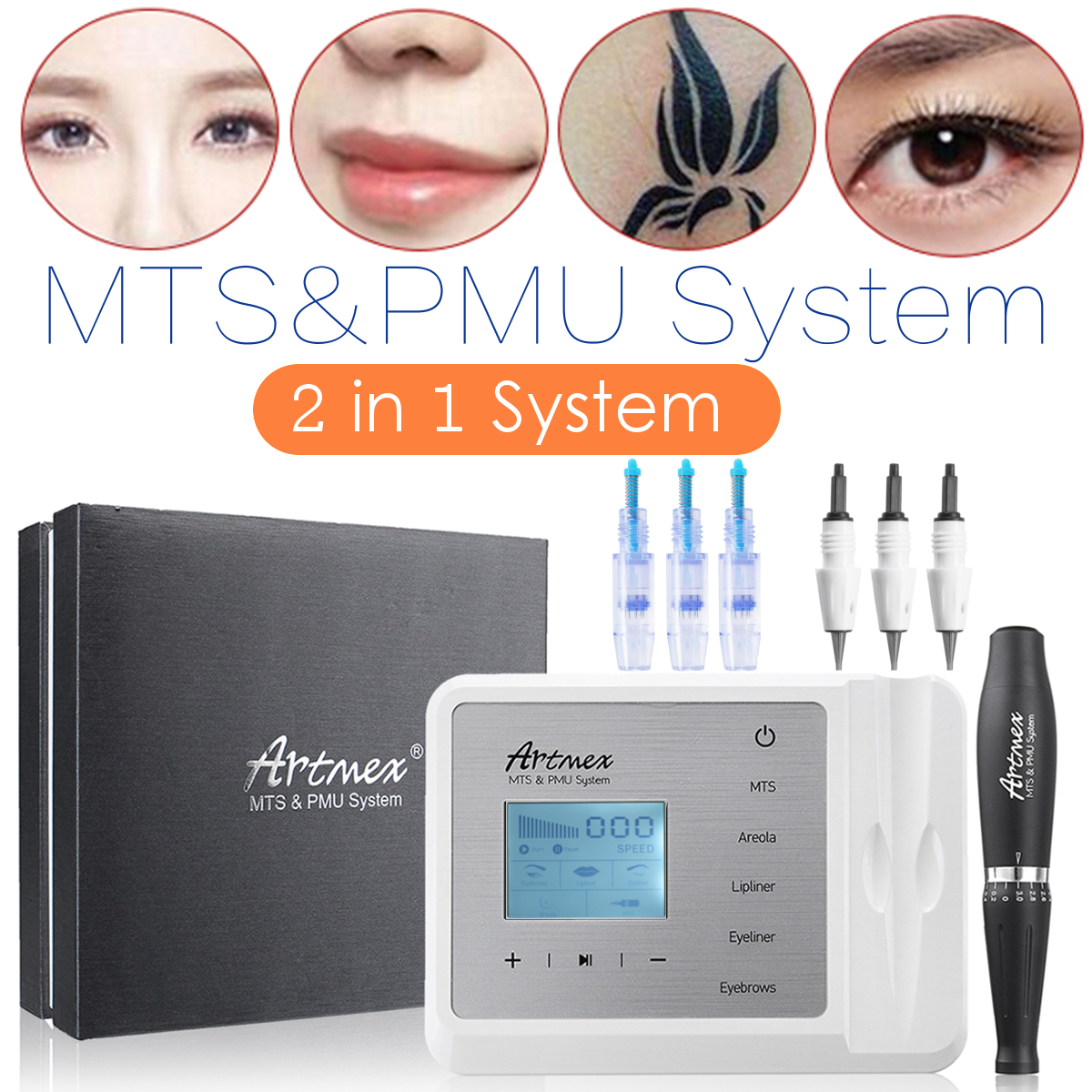 ARTMEX V9 MTS PMU System Permanent Makeup Tattoo Pen Machine