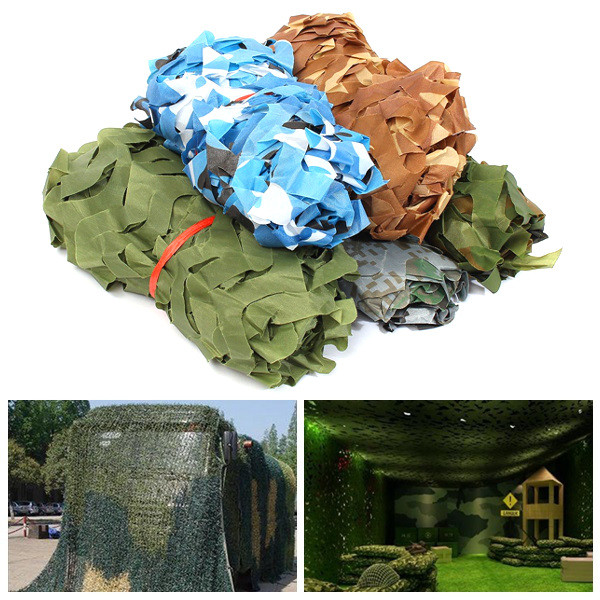 1mX2m Camo Camouflage Net For Car Cover Camping Military Hunting Shooting Hide