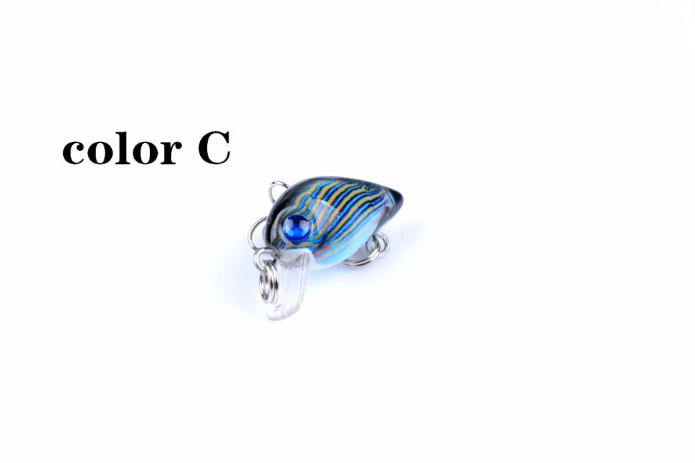 ZANLURE 6PCS 3cm 1.5g Fishing Lures Wobblers Painting Series Fishing Topwater Artificial Fishing Lur