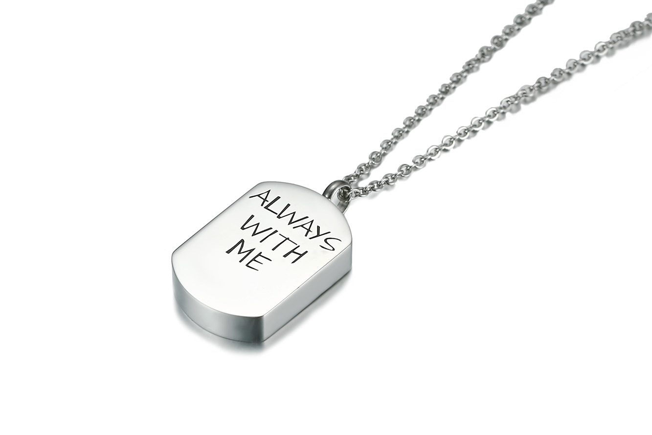 Unisex Stainless Steel Simple Letter Open Pendant Necklace