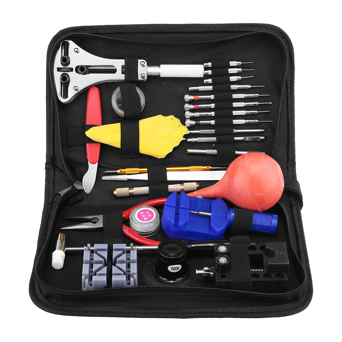 27 in 1 Universial Watch Link Opener Remover Hammer Punch Holder Tool Kit