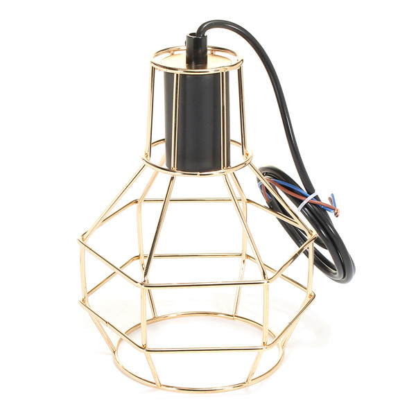 E27 Industrial Style Metal Cage Wire Frame Pendant Light Indoor Chandeliers for Home Bar Club