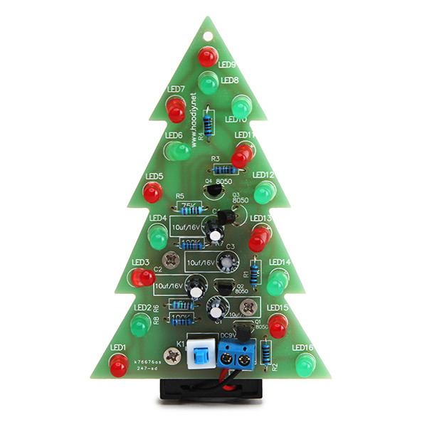 Christmas Tree Flash LED Electronic DIY Learning Kit