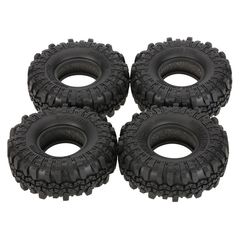 4Pcs AUSTAR AX-4020 1.9 Inch 110mm 1/10 RC Car Tires For D90 SCX10 AXIAL RC4WD TF2 Rock Crawler