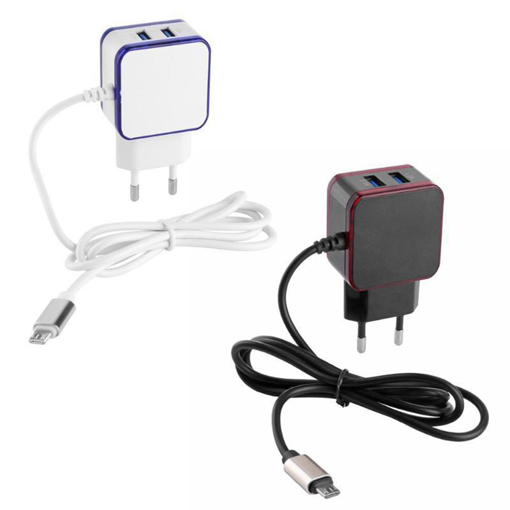 Bakeey 3.1A Dual Micro USB Port LED Fast Charging EU Plug Adapter Charger for Xiaomi HUAWEI Honor HTC