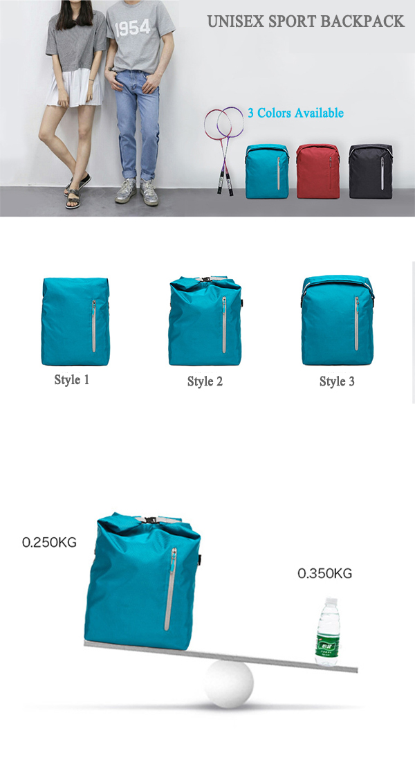 Men Multi Pocket Backpack Casual Sport Water Repellent Transformable Backpack