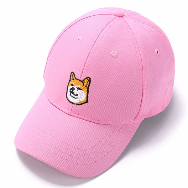 Unisex Dog Embroidery Baseball Cap Cotton Hip-hop Adjustable Hat