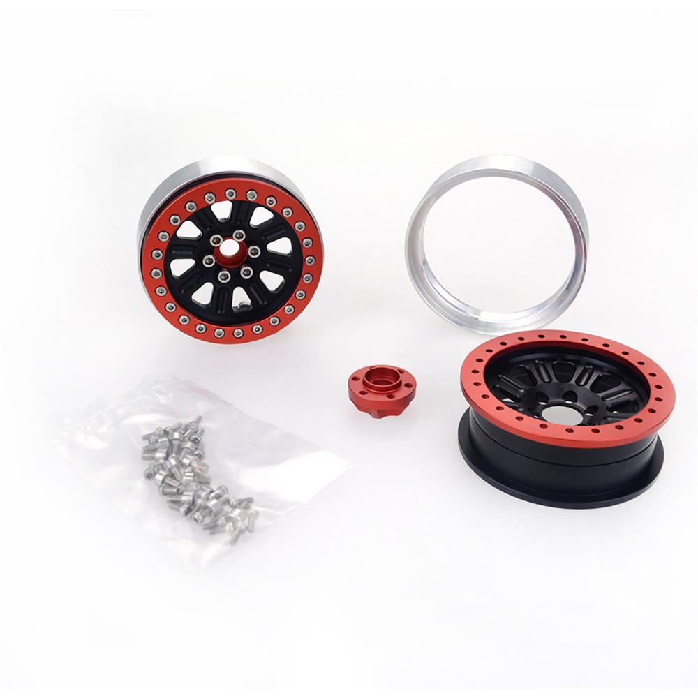 2PCS ZD Racing 2.2 inch Alloy Wheel Rim Hub Aluminum Beadlock for 1/10 RC Car Crawler Axial SCX10