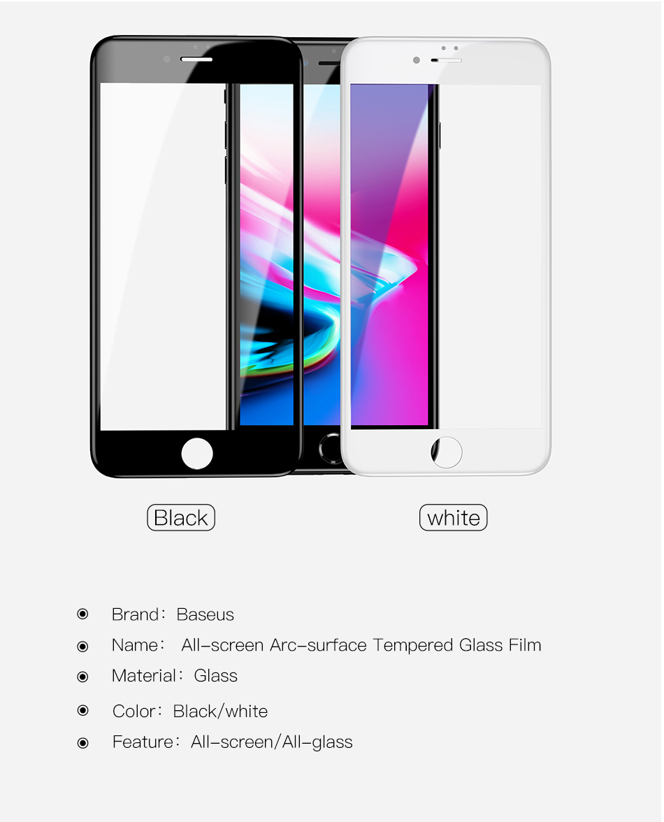 Baseus 5D Anti-blue Light Tempered Glass Film for iPhone 7Plus/8Plus
