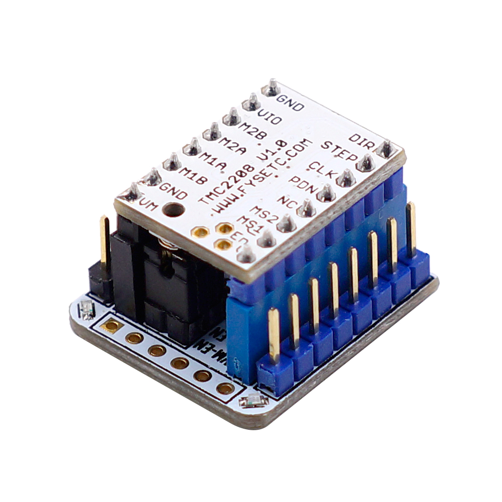 TMC2208 V1.0 Stepper Motor Driver + Tester Module With Stackable Headers Test Or Flash Parameter Modes Of TMC2208 Operation On USB To Serial Adapter For 3D Printer