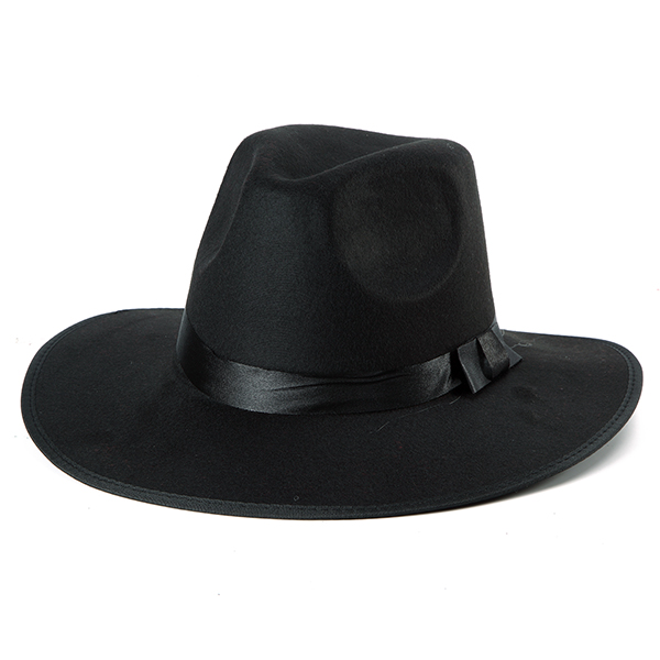 Women ladies Cotton Blend Jazz Felt Fedora Cap Wide Brim Bowler Trilby Panama Hat