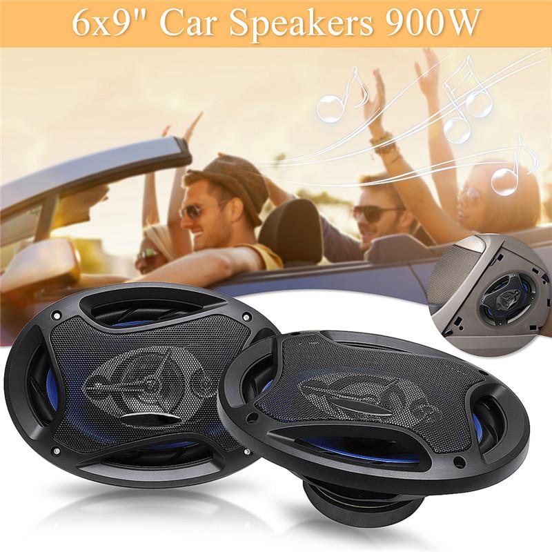 A Pair Of 12V 900W Car Speaker Full Range Loudspeaker Subwoofer