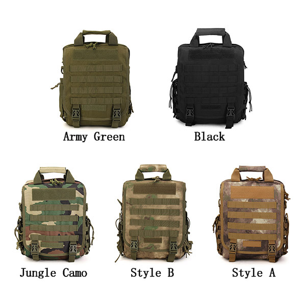 Men Canvas Leisure Backpack Outdoor Travel Hiking Fishing Multifunction Tactical Crossbody Bag