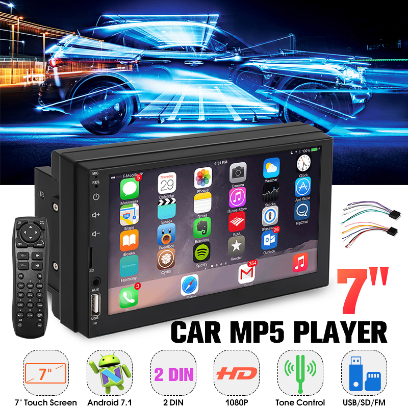 7 Inch 2 DIN Car MP5 Player Radio Stereo