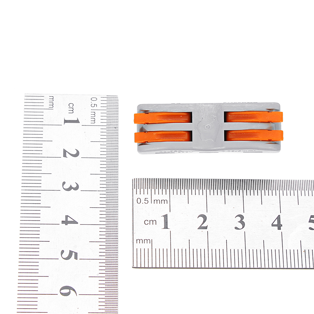 1X 5X 10X LUSTREON 2 Pin Electrical Household Fast Wire Connector Terminal for Lighting Connection