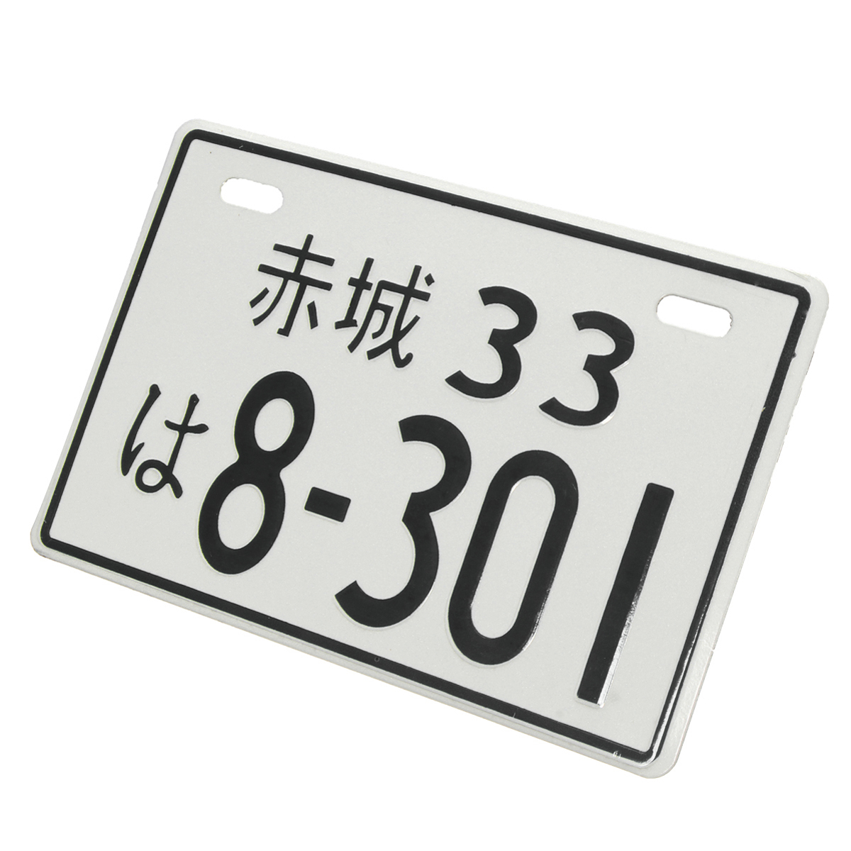 Random Number Mini Japanese Decoration License Plate Aluminum For Motorcycle Car