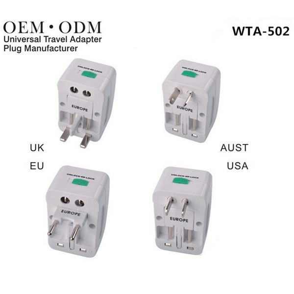 WTA-502 Multifunction Universal Worldwide Travel Charger Converter Adapter Plug