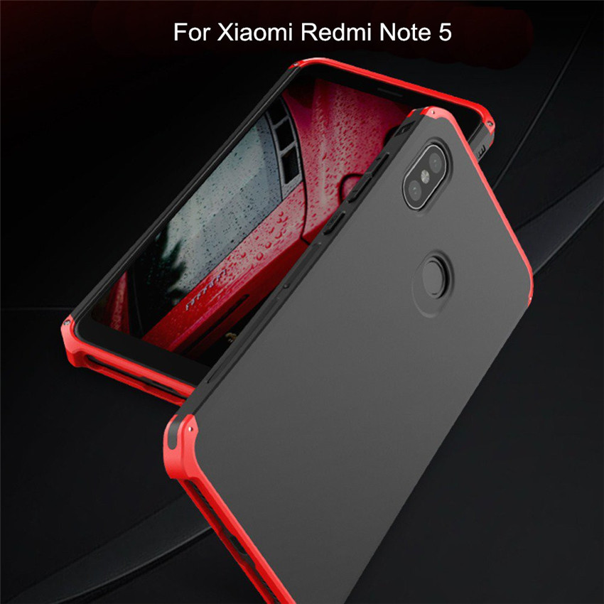 Bakeey™ Metal Frame Shockproof Silicone Back Cover Protective Case for Xiaomi Redmi Note 5