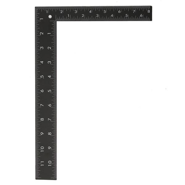 8 x 12inch steel metric imperial dual marking square framing carpenter measure ruler