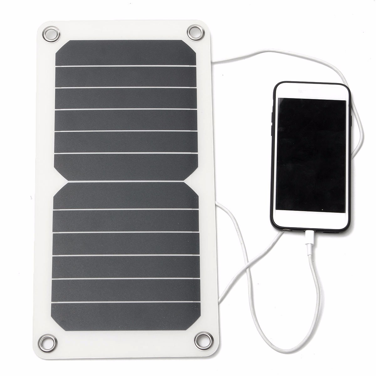 6.5W 5V Solar Panel USB Charger Semi-flexible Portable Solar 30.3x15.3cm