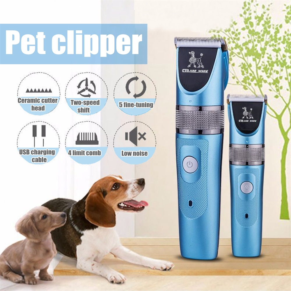 Pet Dog Cat Hair Clipper Cordless Hair Trimmer Rechargeable