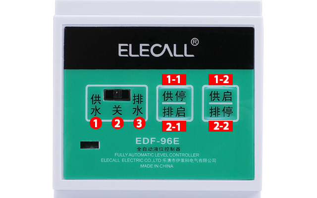 DF96E AC220V Din Rail Mount Float Switch Auto Water Liquid Level Controller with 3pcs 2/5/10M length probes