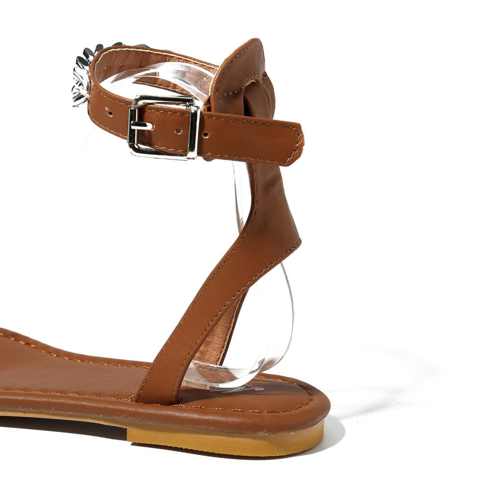 Roman Metal Chain Women Shoes Clip Toe Sandals
