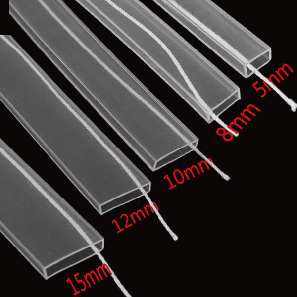5M Silicon Tube 5mm/8mm/10mm/12mm/15mm for WS2812B 5050 3528 2835 5630 LED Strip Light