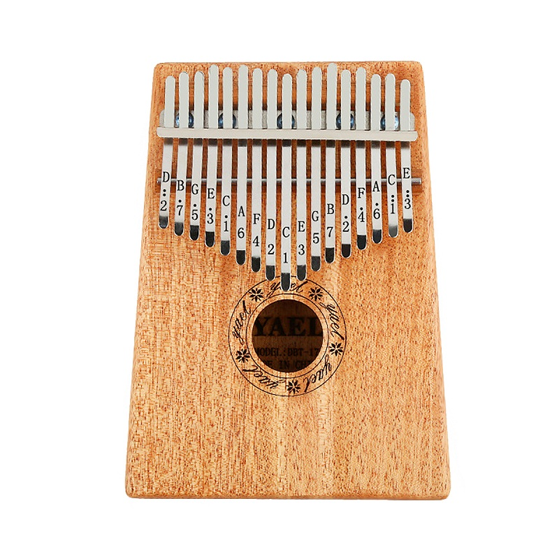 17 Key African Mahogany Wooden Kalimba Thumb Piano Finger Percussion Music Mbira