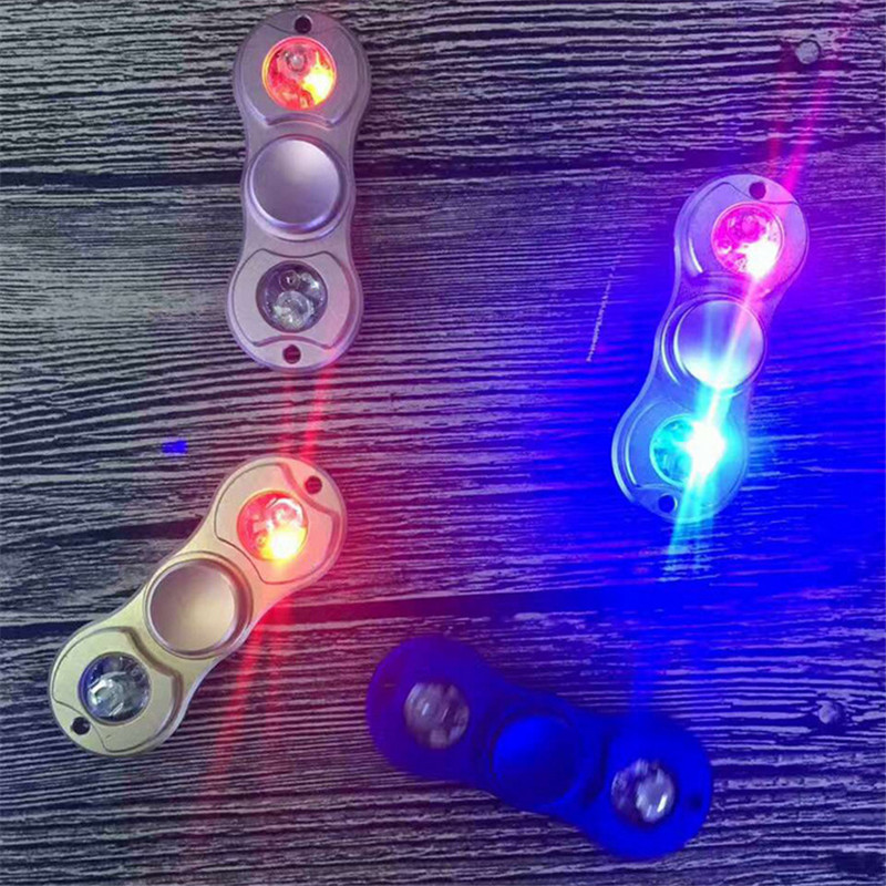 Led Light Two Arm Hand Spinner With Marquee Spiral Rotation Children Adult Fidget Funny Focus Toy