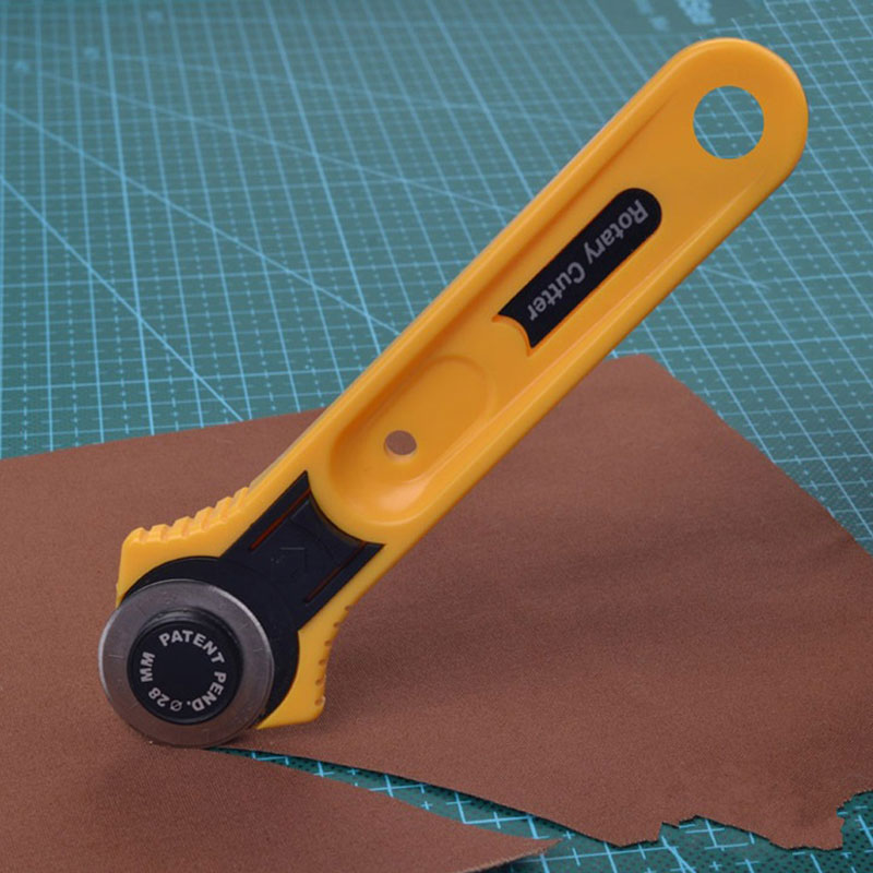 Leather Craft Tools Circular Cut Yellow Rotary Blade Cutter Patchwork Fabric Leather Craft Sewing To