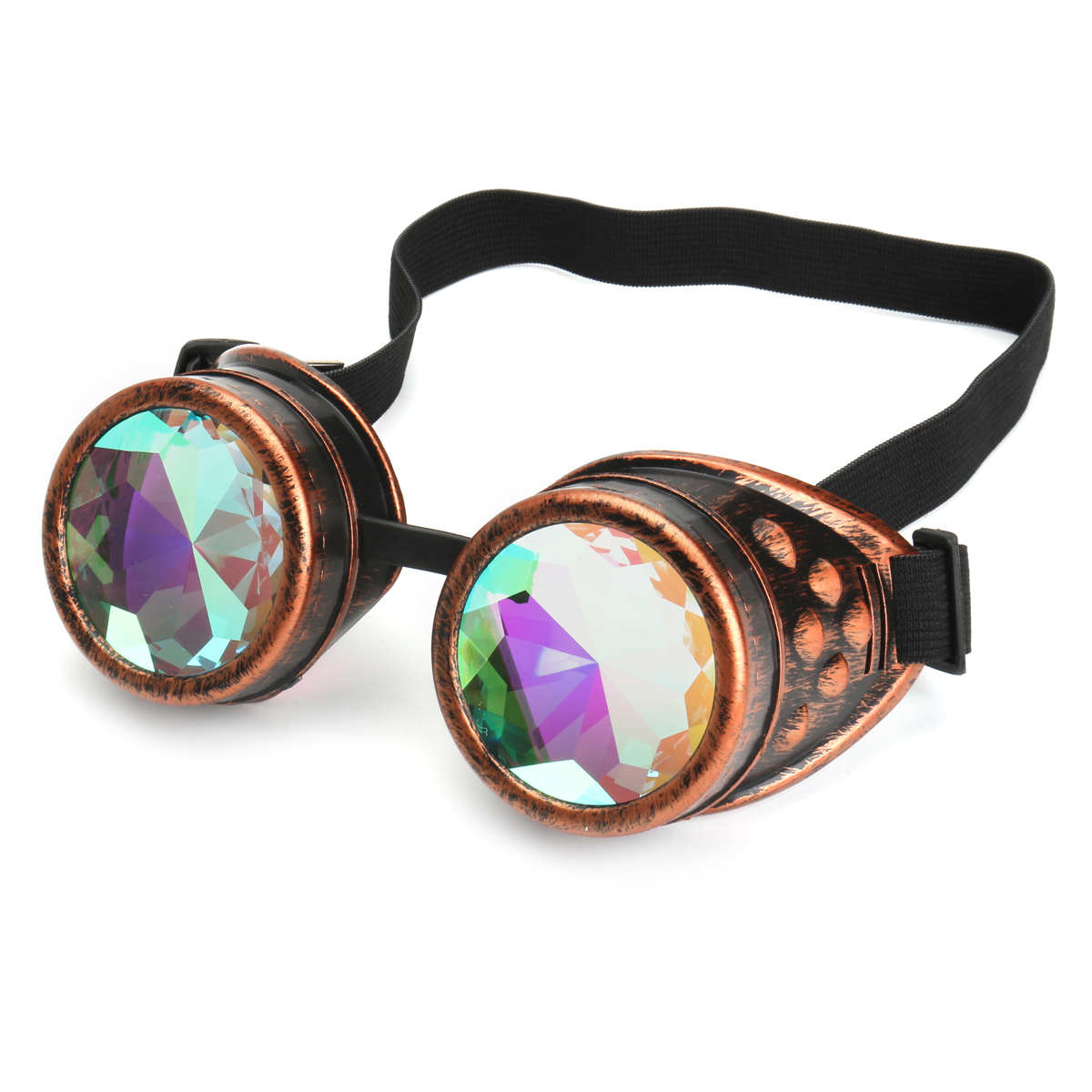 BIKIGHT Outdoor Festivals Kaleidoscope Glasses for Raves - Prism Diffraction Crystal Lenses