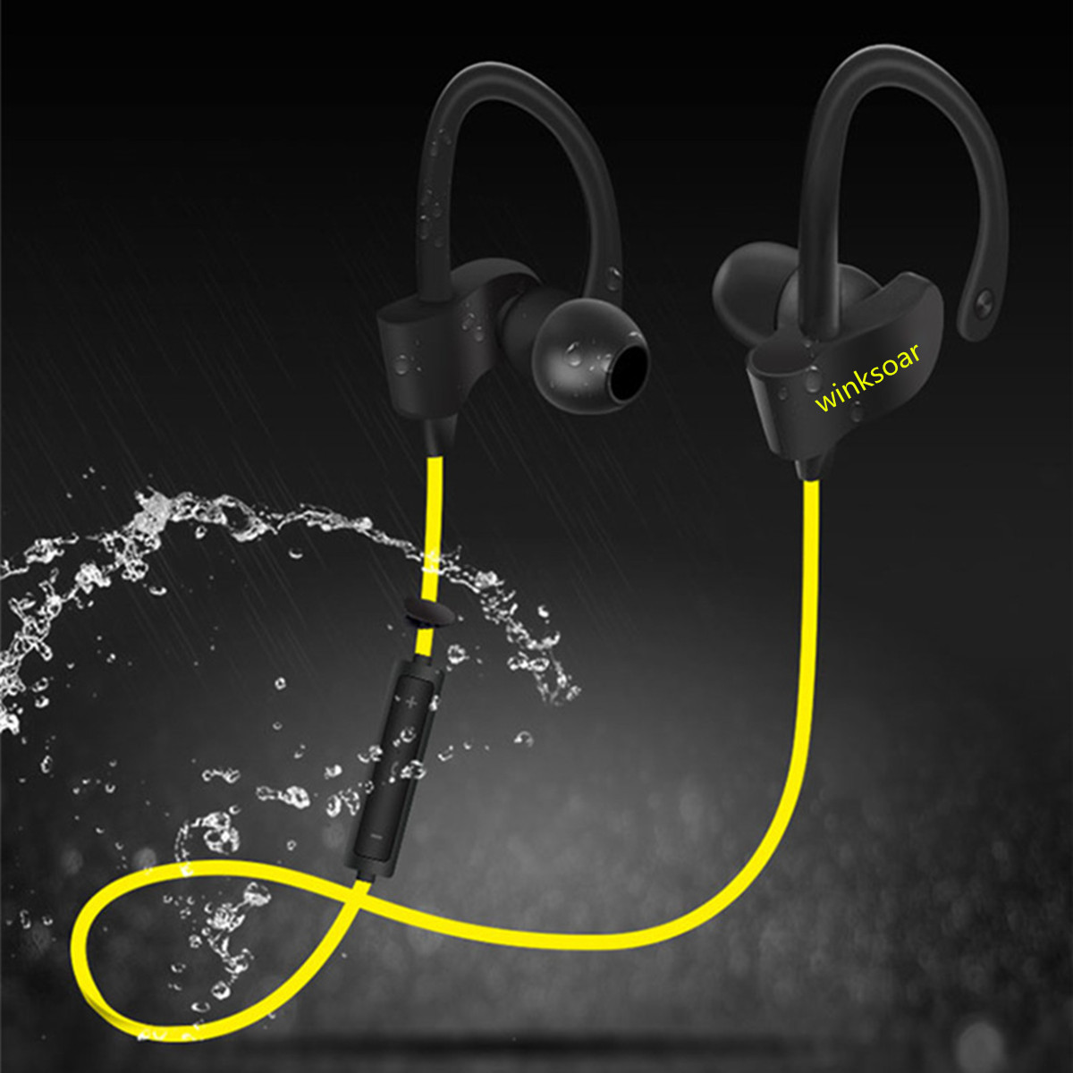 Winksoar Bluetooth Headset Waterproof Sports Stereo Headphone for Iphone Samsung Xiaomi LG